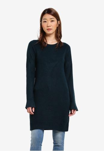 Dorothy Perkins green Mallard Flute Sleeve Tunic Dress DO816AA0S4RDMY_1