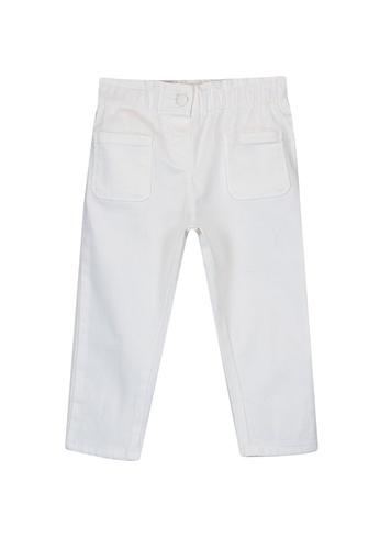 LC Waikiki white Baby Girl's Gabardine Trousers E0F5BKA6826D07GS_1