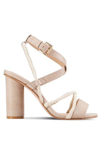 ZALORA beige Rope High Heel Sandals 45E2ESHD3E62BBGS_1