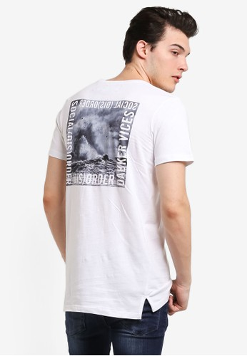 Cotton On white Ae Droptail Tee (Slim Fit) CO372AA0RI1VMY_1