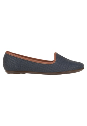 Beira Rio navy Solid Color Pointed Weaved Flats MO996SH09EVEHK_1
