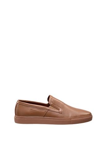 SEMBONIA brown Men Leather Sneaker 6A517SHA432EF9GS_1