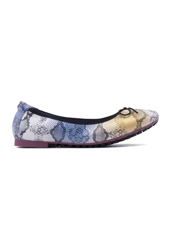 Flatss & Heelss by Rad Russel blue Snakeskin Prints Flats-Blue FL655SH0GQA9SG_1