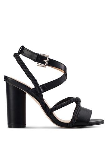 ZALORA black Rope High Heel Sandals 9D96ASHCD3D3C8GS_1