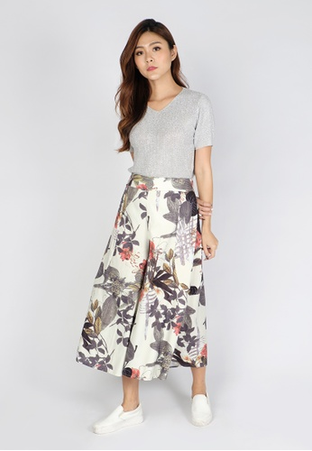Sophialuv black No if or Buds Floral Culottes 8F68CAAB2091D4GS_1
