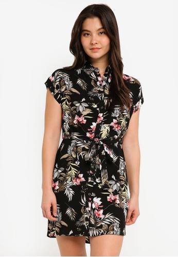 Dorothy Perkins pink Petite Black Safari Dress 78AEAAA2AD796FGS_1