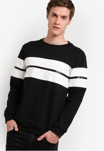 Murzaman black Y & M Sweatshirt MU501AA17NISMY_1