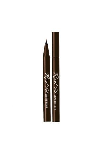 W.Lab brown Real Fit Brush Eyeliner 02 Real Brown WL257BE04BJBSG_1