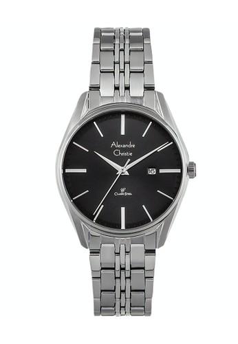 Alexandre Christie silver Alexandre Christie Jam Tangan Wanita - Silver Black - Stainless Steel - 8588 LDBSSBA 3F4BAAC96E286AGS_1