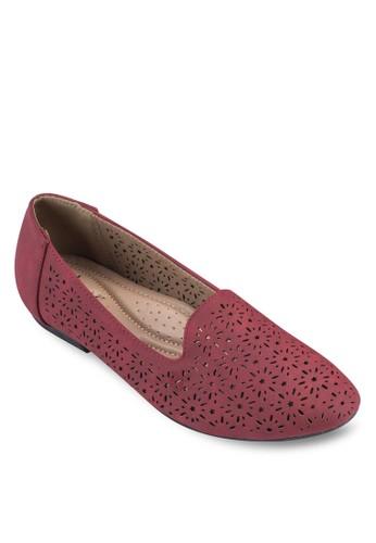 沖zalora 泳衣孔雕花樂福鞋, 女鞋, 船型鞋