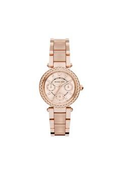 【ZALORA】 Mini Parker鑽飾計時腕錶 MK6110