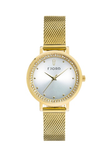 Fjord gold Fjord Women's Mesh Band Watch - FJ-6050-22 66B23ACCAD3E97GS_1