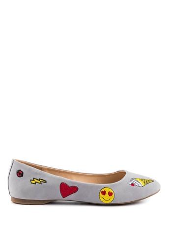London Rag grey Grey Ballerina Shoes 7E02ESHE6A4C36GS_1