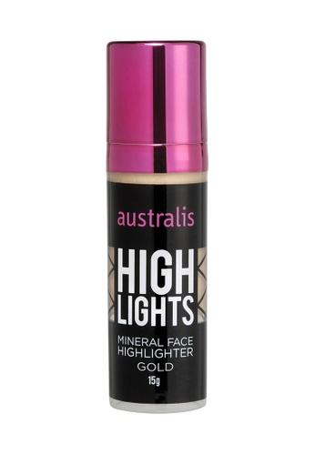 Australis beige Australis Mineral Liquid Highlighter Gold AU782BE99DJOSG_1
