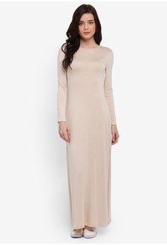 7e63bf942b Zalia Long Sleeve Basic Dress