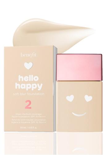 Benefit beige Benefit Hello Happy Soft Blur Foundation Shade 02 AEADEBE2CCEF60GS_1