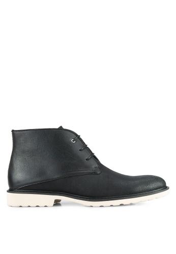 ZALORA black Essential Faux Leather Boots 35E0FAA15F552EGS_1