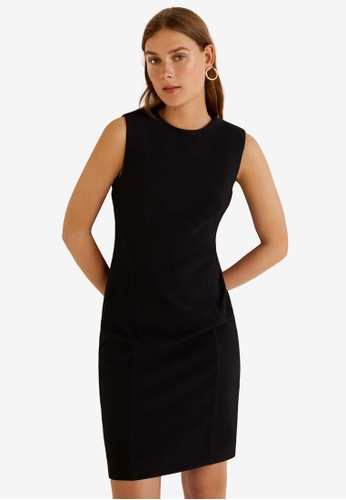 Mango black Seam Bodycon Dress B673FAAEFDAF3CGS_1