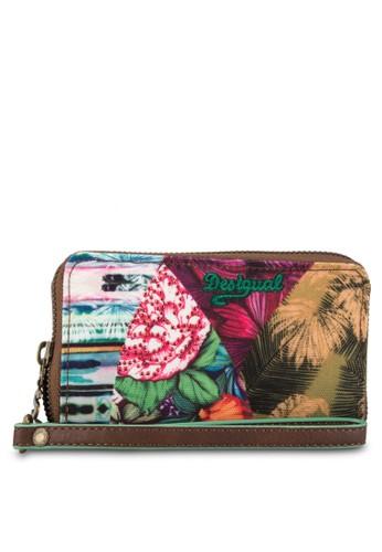 Mone Mentawai New Green 印花拉鍊短夾,esprit服飾 包, 錢包