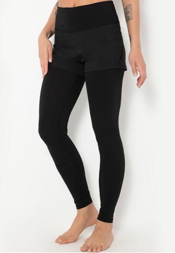 Trendyshop black 2-in-1 High-Elastic Fitness Leggings 3FA03US5F03D7AGS_1