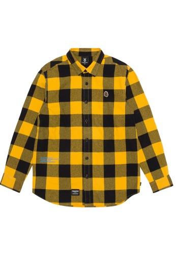 Fingercroxx yellow Logo flannel shirt F552FAA7CF00D5GS_1