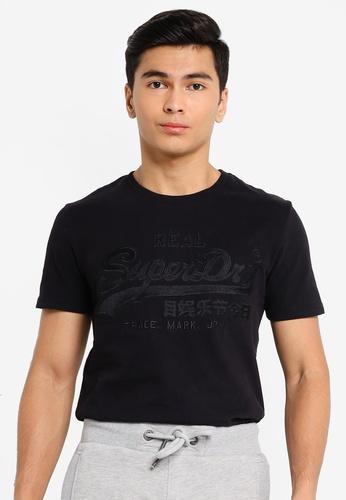 SUPERDRY black Vintage Logo Embroidery Tee 45F3BAAAD1EFCEGS_1