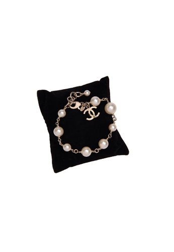Chanel gold Pre-Loved Chanel Ligh GP With Faux Pearl Bracelet F7282ACB42E272GS_1