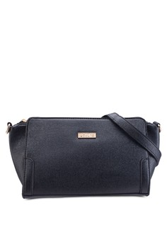 Saffiano Textured Trapeze Sling Bag