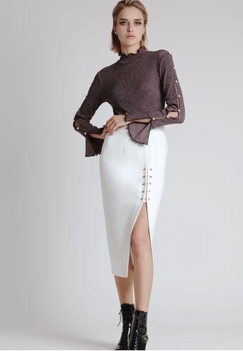 N12H white Emma Split skirt 3ECC4AAB48A0F8GS_1