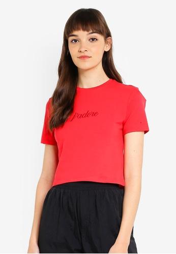Factorie red Fitted Graphic T-Shirt E4DA7AADD46459GS_1