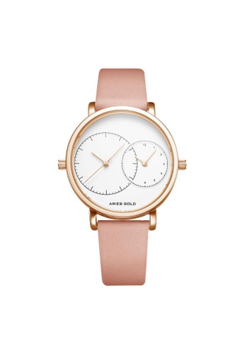Aries Gold pink Aries Gold Wanderer L 5027 Rose Gold and Pink Watch F0196AC0687C67GS_1