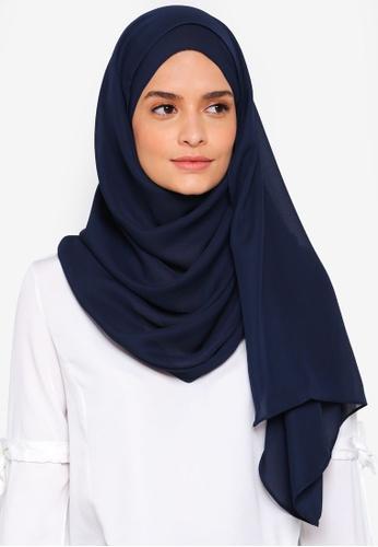 Lubna blue Basic Shawl 8C415AA56961AFGS_1