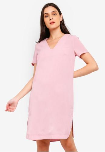 ZALORA pink Round Hem Shift Dress 95F61AA8BF50A1GS_1