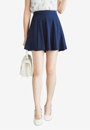 Tokichoi navy Chiffon Full Mini Skirt C1772AA6A1F9B4GS_1