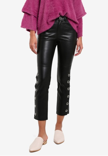 Mango black Side Eyelet  Trousers MA193AA0RMK4MY_1