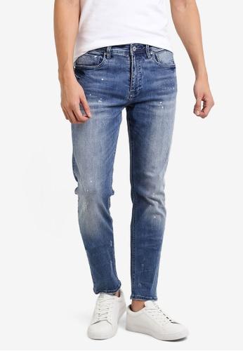 CR7 藍色 Type S窄管牛仔褲 CR532AA90EFDMY_1