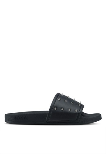 Slydes black Nova Spike Sandals 30D04SHFB2FF90GS_1