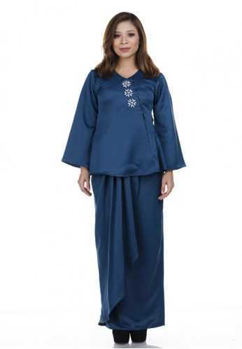 Wilma Kurung from NOVEMBERMATE in Black and Blue and Navy