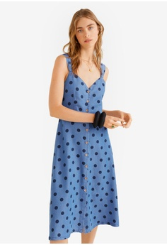 849022976958 Mango blue Midi Printed Dress A2951AA6FD5545GS_1