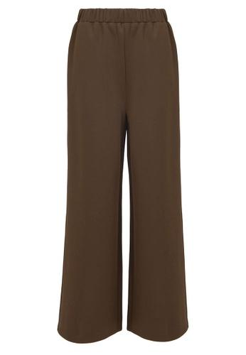 POPLOOK green Shachi Wide Legged Pants F4E8DAA1F47C57GS_1