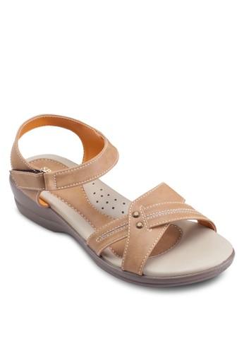 經esprit hk outlet典繞踝低楔形涼鞋, 女鞋, 鞋