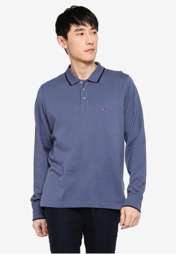 Tommy Hilfiger blue Basic Tipped Regular Long Sleeve Polo Shirt 156F8AA7E76C2DGS_1