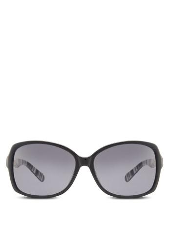 Kate Spade black Fairmont Polarized Sunglasses KA433GL61HWSMY_1