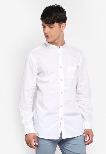 French Connection white Garment Dye Poplin Shirt 8BAFFAADE6E03EGS_1