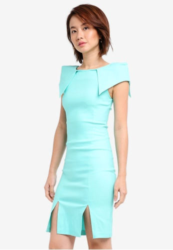 Vesper blue Vesper Reign Origami Midi Dress F3E9CAA350198AGS_1