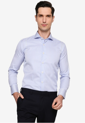 Sacoor Brothers blue Men's Casual Slim Fit Shirt 957B7AA8850B30GS_1