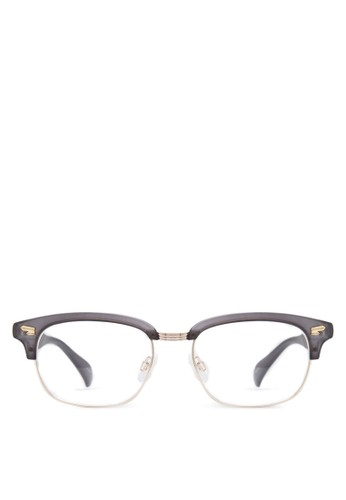 Kamus esprit旗艦店半粗框透明眼鏡, 飾品配件, 眼鏡