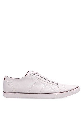 Burton Menswear London white Walden Casual Plimsolls BU964SH0RZGSMY_1