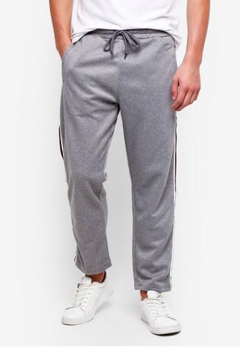 Cotton On 灰色 Slim Side Stripe Track Pants BEED5AAE691D7AGS_1