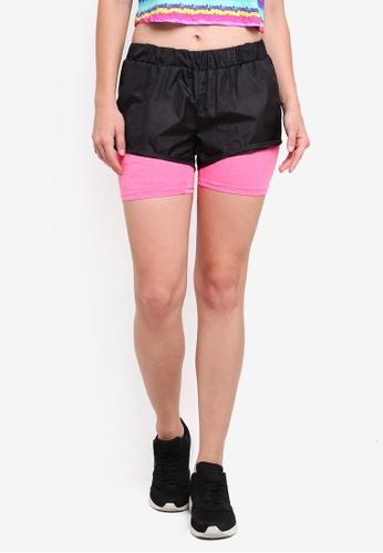 UniqTee black Gym 2-In-1 Sport Shorts 447E3AAFE89BEFGS_1